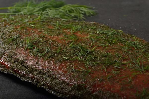 Graved Lachs geräuchert, 700g | Lachsseite, aus Norwegen